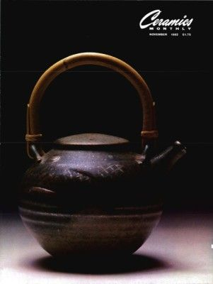 Ceramics Monthly November 1982 Issue Cover, On the Cover:  Teapot by Ginny and Tom Marsh
