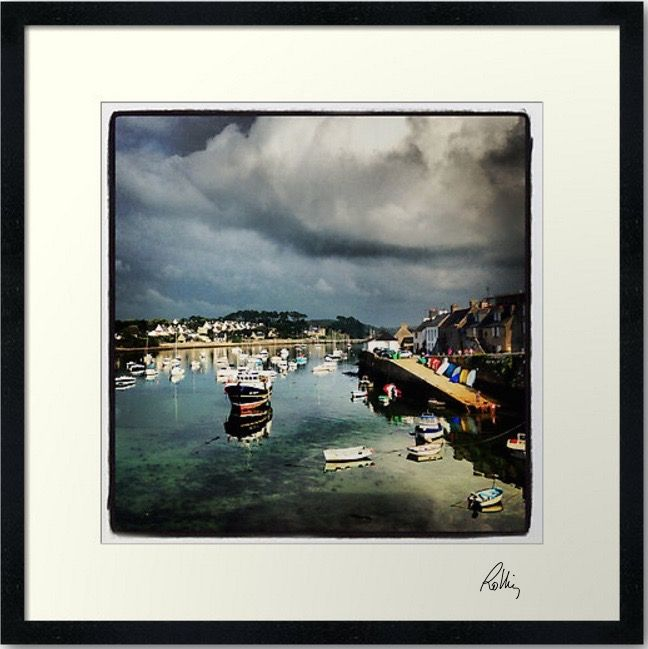 """Photo encadrée de Jean Luc Rollier """"Le vieux port"""" 30x30cm"""