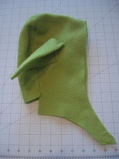 I made the hat out of fleece, again, for added warmth. Measure the person's head dimensions, from the top of the head, to the base of the ...