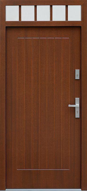 Drzwi z naświetlem górnym wzór 688,2 w kolorze orzech.