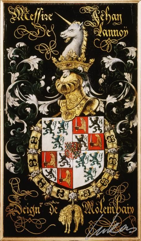 Armorial plates from the Order of the Golden Fleece  Photo number:  0010184000 Artist:  Lukas de Heere Period (century):  16th century