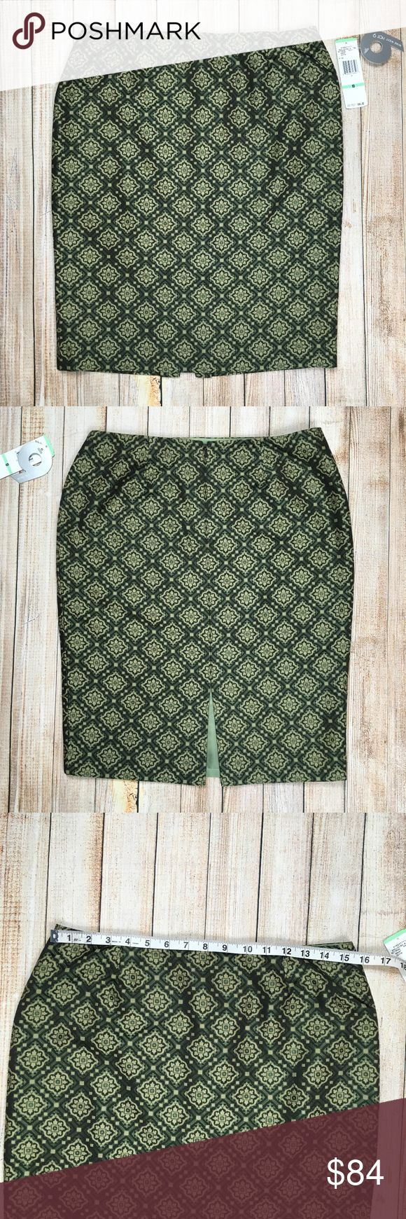 Nine West diamond pattern pencil skirt in green Nine West diamond pattern pencil skirt in shades of green. Gorgeous and slightly metallic sateen material, this skirt is a stand out! Dress it up for the office or down for a casual brunch, it's very versatile.   Silk blend.   Approximate measurements provided in photos.   OFFERS ENCOURAGED!  Tags: Hot 9, exclusives, fitted, sexy, girly, flirty, office, statement Nine West Skirts Pencil