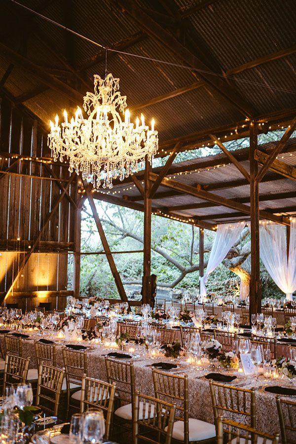 Chic Parisian Wedding in a Rustic Barn