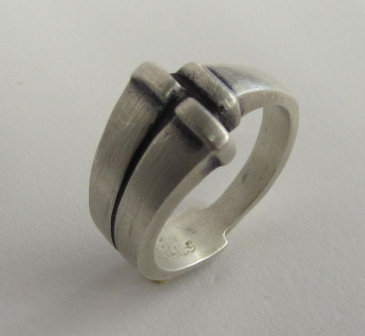 Nails of the Cross ring. Hand carved and cast in sterling silver by Link Wachler Designs. Made to size.$160.