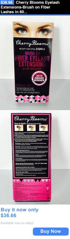 Mascara: Cherry Blooms Eyelash Extensions-Brush On Fiber Lashes In 60 Seconds (Authentic) BUY IT NOW ONLY: $36.66