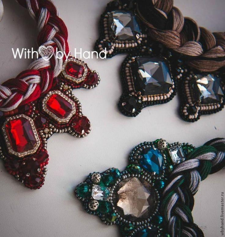 Crear collar de estilo en cuero basado en trenza - Feria Masters - hecho a mano, hecho a mano