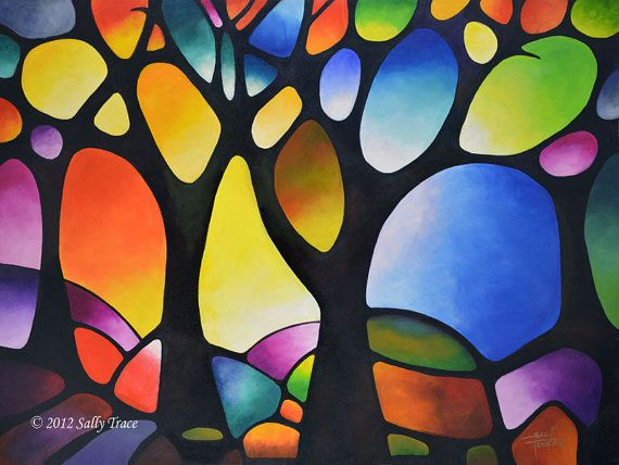 Impresión de Giclee en lona de mi árbol pintura abstracta