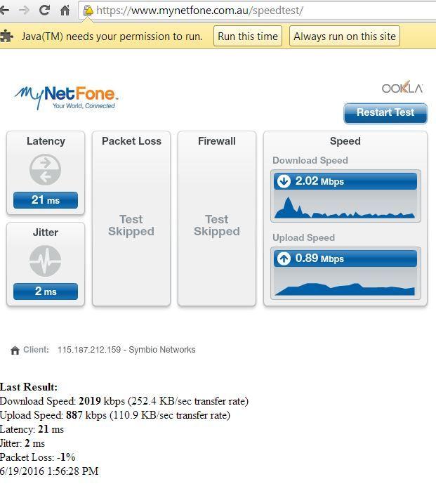 Internet connection speed test by MyNetphone https://www.mynetfone.com.au/speedtest/