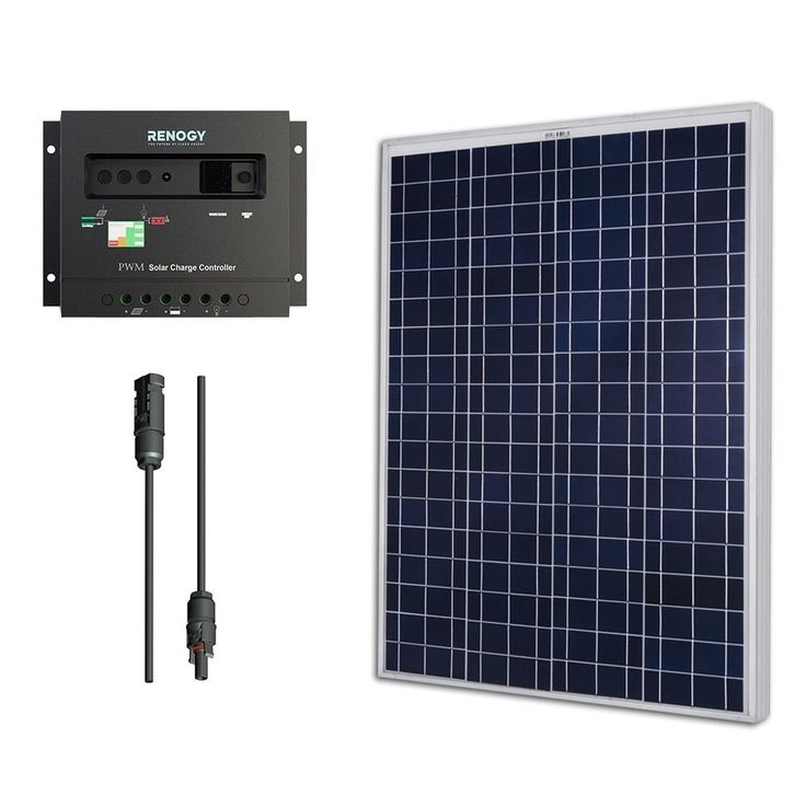 The Renogy 100W Kits is stocked with the items you need to make a solar installation on the rooftop of your RV, camper, or boat.