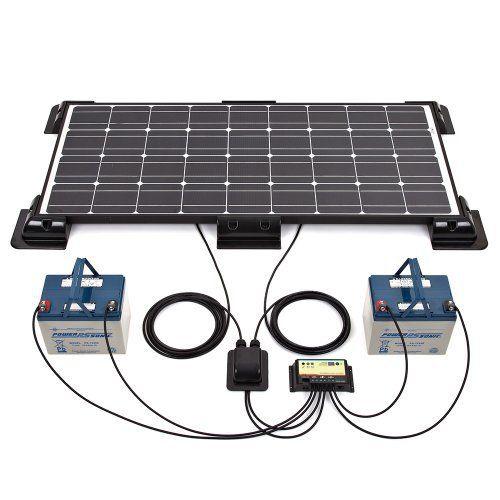 Biard® Panneau Solaire Photovoltaïque 100W – Kit Complet – Câbles et Six Fixations Fournis – Régulateur de Charge Non Waterproof –…