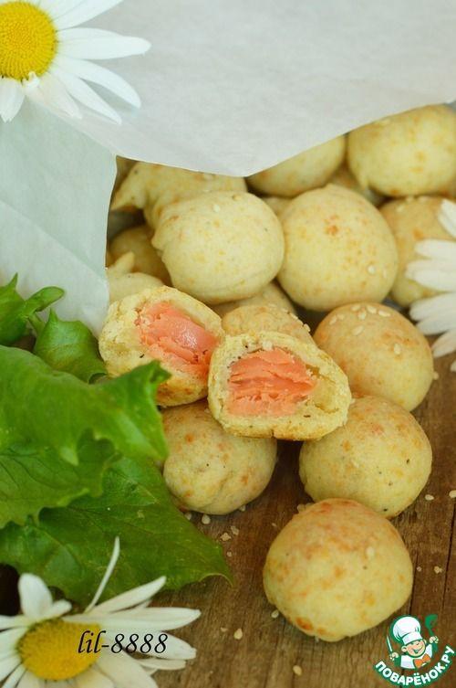 Сырное печенье с семгой - кулинарный рецепт
