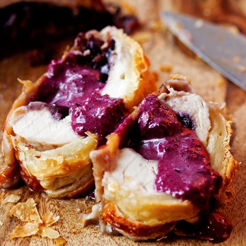 Blueberry and Brie Stuffed Turkey Wellington Recipe - RecipeChart.com
