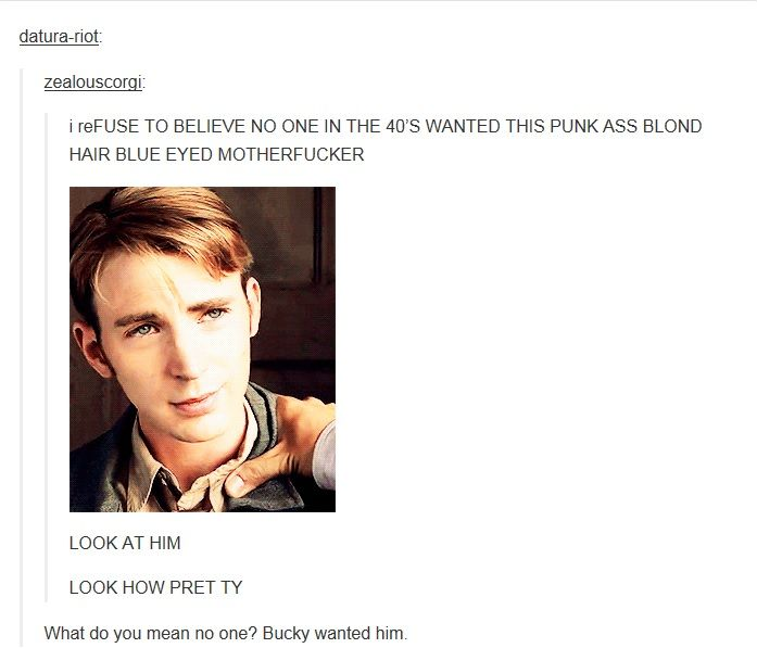 -Bucky WANTS him- This doesn't even have to be romantically, Bucky always wanted Steve and always will.