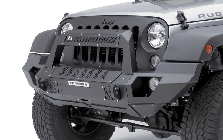 The Go Rhino BRJ40 Front Bumper is the ultimate modular bumper for the Jeep® Wrangler JK. Completing the BRJ40 Front Bumper is a full end cap that lines up with the front fenders and fills out the front end of the Jeep.