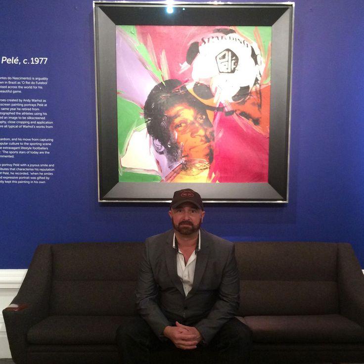 Louis Sidoli & Warhol Pele portrait