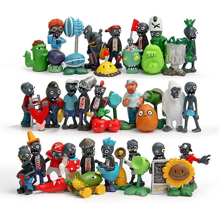 40pcs Plants vs Zombies toy chomper Zombies set 2016 New Plants vs. Zombies 2 Full series figures pea sunflower Melon nuts lot #Affiliate