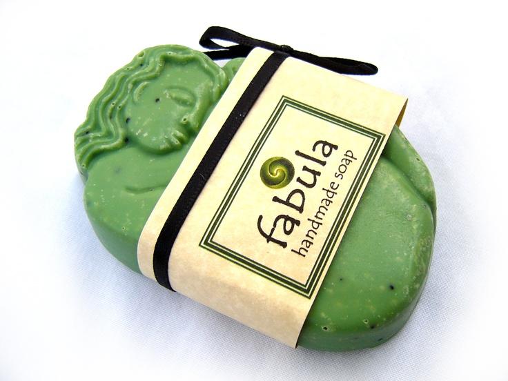 Spearmint & Poppy Seed, 100% natural handmade soap    http://www.facebook.com/#!/FabulaSoaps