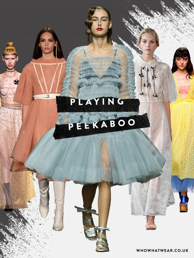 Spring summer 2017 fashion trends: See-through dresses are super-important for spring. Expect to see girls layering these sheer tulle frocks over everything from underwear to jeans soon…