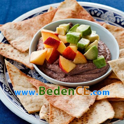Marine Şeftali ile Baharatlı Siyah Fasülye Ezmesi 6gr protein ile 226 kalori barındıran harika bir diyet yemeği kesinlikle deneyin