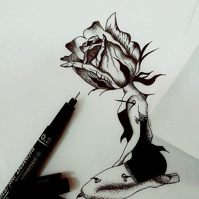New The 10 Best Art Ideas Today With Pictures قدرت کلماتت رو بالا ببر نه صدایت را این بارونه که باعث رشد گل ها Pencil Art Drawings Girly Drawings Art