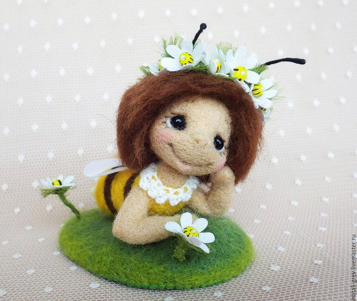 Купить Про лето - желтый, коричневы, пчела, пчелка, подставка, усы, крылья