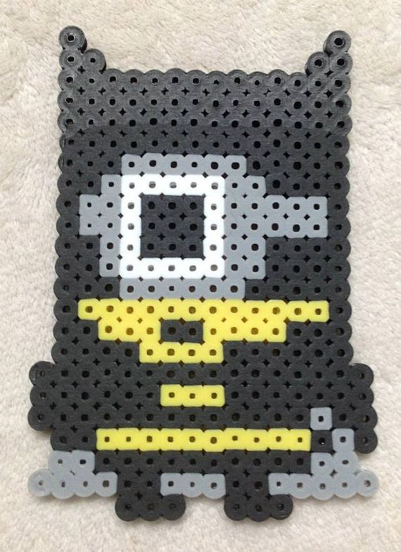 Minion Super Hero Batman Perler Bead Art by EightBitEvolution