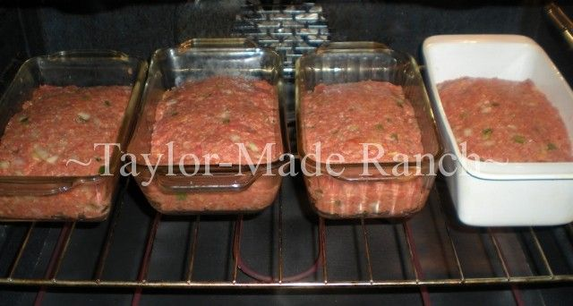 Wild Game Recipe: Savory Meatloaf Using Ground Wild-Hog Pork. Makes 4 Delicious Meatloves!  #TaylorMadeRanch