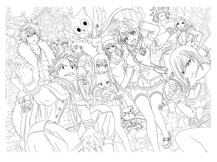 11 best Manga coloring pages images on Pinterest | Colouring pages ...
