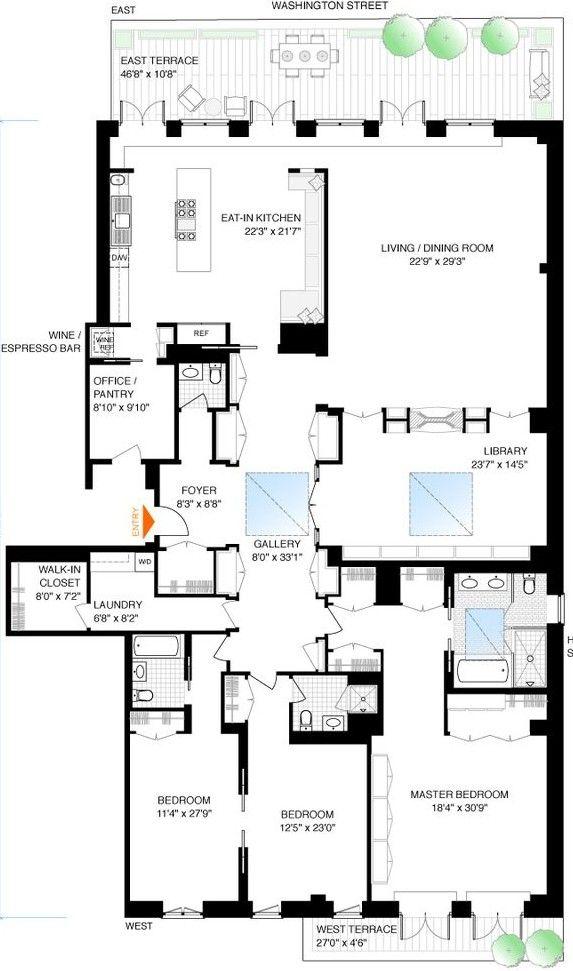 Tribeca Penthouse Apartment Floor Plan