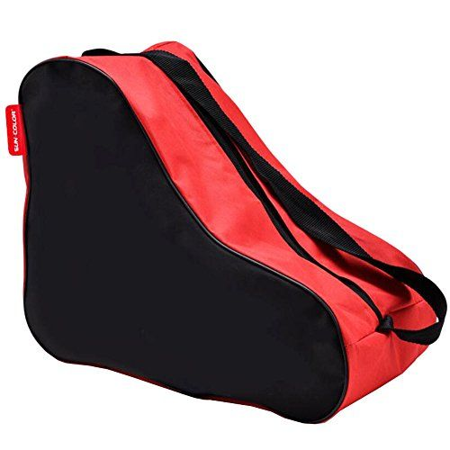 Children Ice Skate Backpack Skate Roller Carry Bag Skate Red * Continue to the product at the image link.