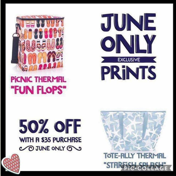 THIRTY-ONE CUSTOMER SPECIAL... 50% off Thermal Totes JUNE 2017 with each $35 purchase.