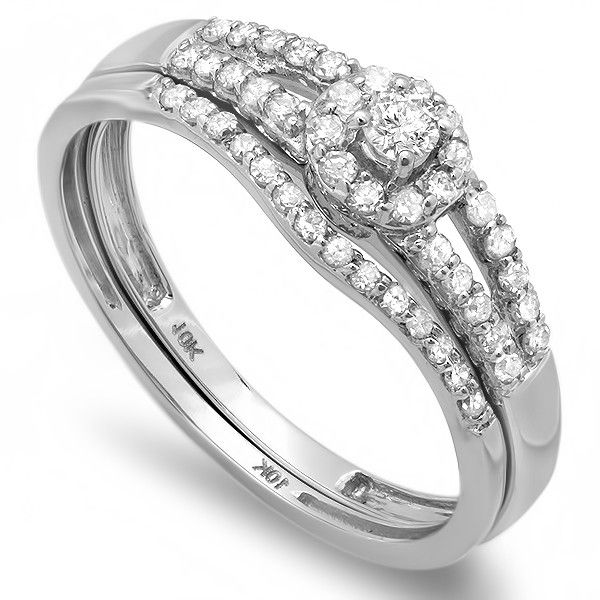Elegant K White Gold Engagement Rings At Walmart