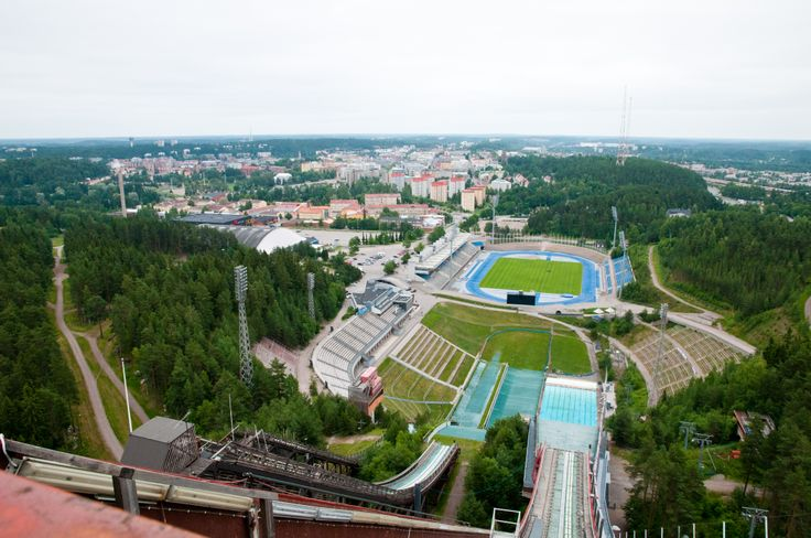 View from the big ski jump tower.  Photographer: Mikko Tolonen