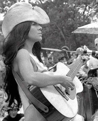 Buffy Sainte-Marie at the Newport Folk Festival, 1969.