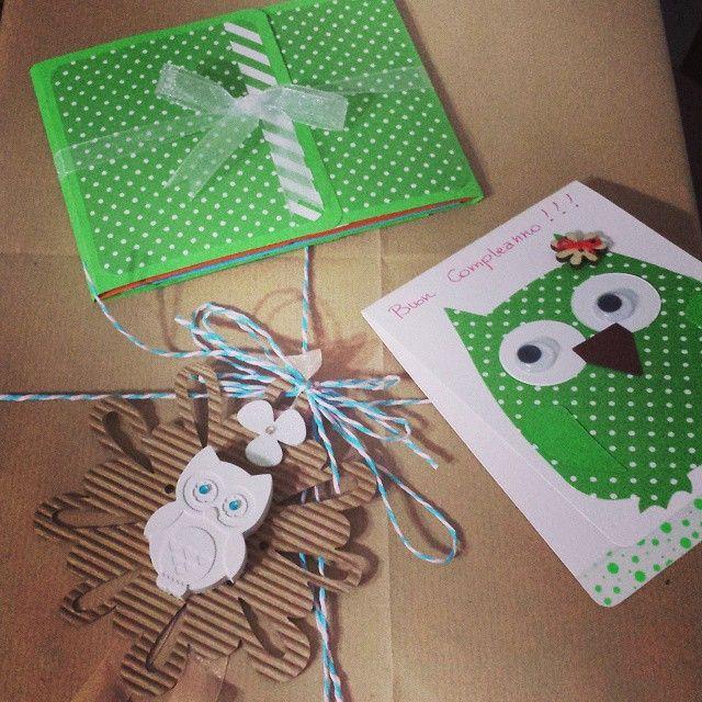 Packaging, birthday card e mini album...  I love scrapbooking!