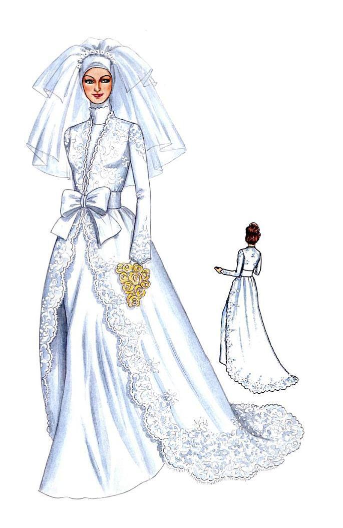 Model Gaun Kebaya Panjang