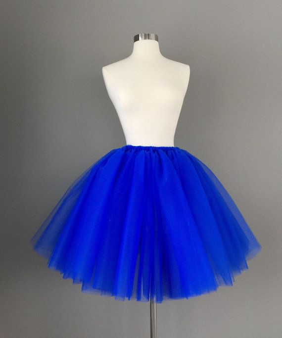 Adult royal blue tutu adult tulle skirt by Morningstardesignsmi