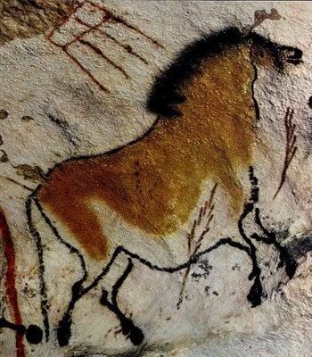 Pieza de Arte (rupestre) perteneciente al periodo Paleolítico