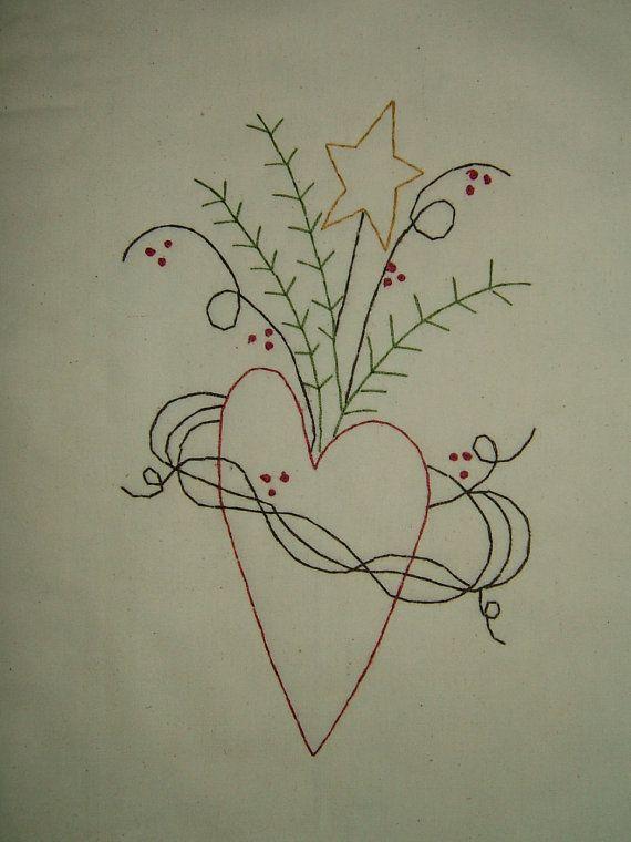 Primitive StitcheryEntwined Heart....