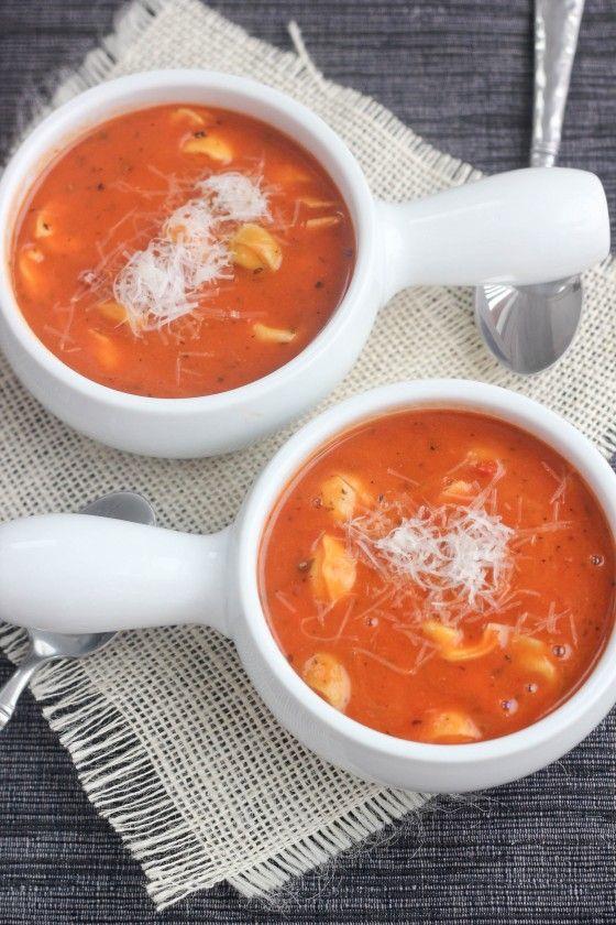 Creamy Tomato Soup with Tortellini