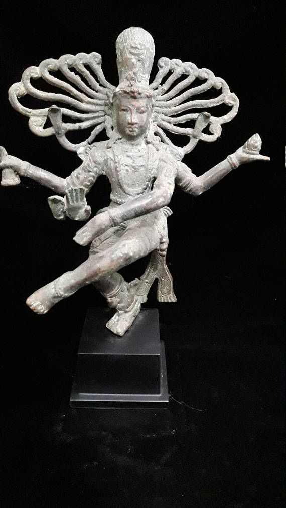 Shiva Nataraja God Dancing Cern Brass Bronze Mix Statue Multi