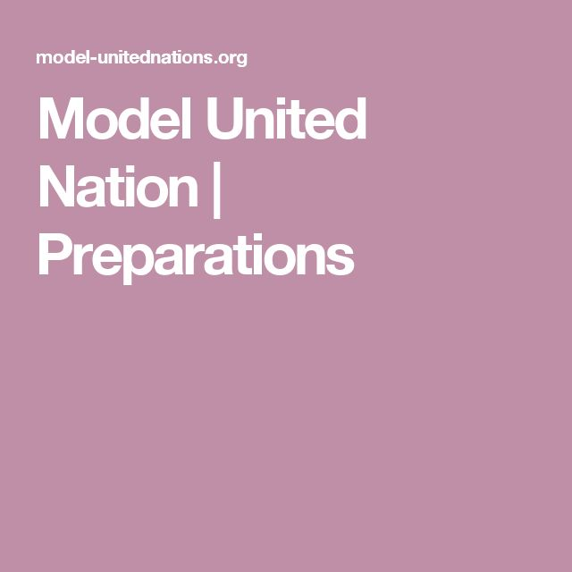 Model United Nation | Preparations
