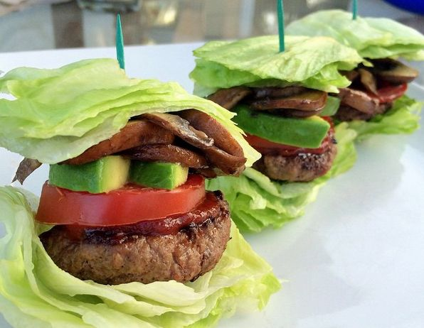 Organic grass fed beef, formed into small slider patties (May sub for ground turkey or chicken) Crisp iceberg lettuce, cut into squares Ketchup Sautéed mushrooms Avocado slices Tomato slices Kosher salt & black pepper Sauté your mushrooms in olive oil and season with salt and pepper. Once the mushrooms are…