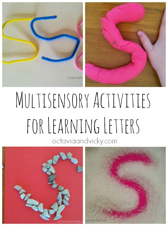 Multisensory Activities for Learning Letters {via Octavia and Vicky}