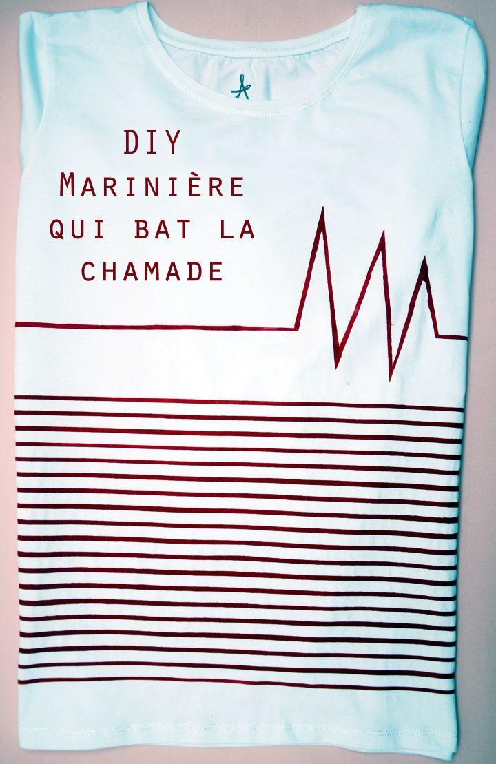 diy tee-shirt  http://www.clonesnclowns.com/fr/2013/02/11/diy-mariniere-qui-bat-la-chamade/#