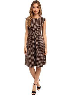 London Times Ponte Jacquard Fit & Flare Dress