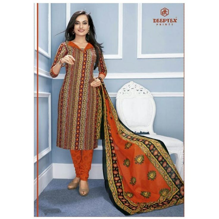100 % Cotton Do not bleach Medium to hot iron Comes with a dupatta of 2.25 m Work : Printed