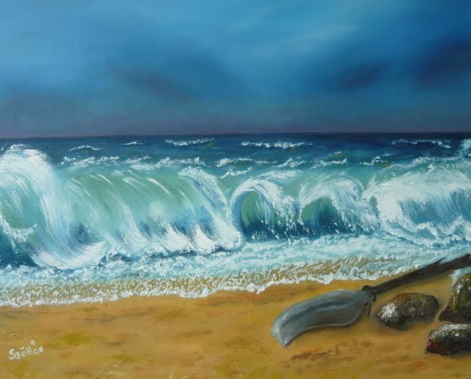 created by: Szöllős Éva -Storm- oil, 40x50 cm canvas