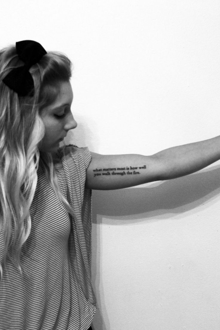 what matters most http://tattoos-ideas.net/what-matters-most/ Arm Tattoos, Quote Tattoos