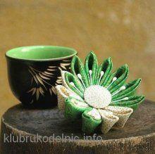 Цветок в волосы (канзаши)